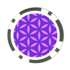 Pattern Texture Backgrounds Purple Poker Chip Card Guard (10 pack)