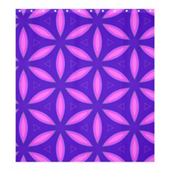 Pattern Texture Backgrounds Purple Shower Curtain 66  x 72  (Large)