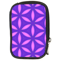 Pattern Texture Backgrounds Purple Compact Camera Leather Case
