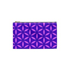 Pattern Texture Backgrounds Purple Cosmetic Bag (Small)