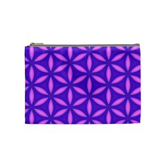 Pattern Texture Backgrounds Purple Cosmetic Bag (medium) by HermanTelo