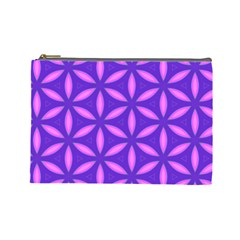 Pattern Texture Backgrounds Purple Cosmetic Bag (Large)