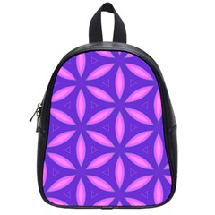 Pattern Texture Backgrounds Purple School Bag (Small)