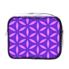 Pattern Texture Backgrounds Purple Mini Toiletries Bag (One Side)