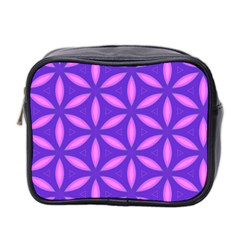 Pattern Texture Backgrounds Purple Mini Toiletries Bag (Two Sides)