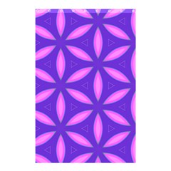 Pattern Texture Backgrounds Purple Shower Curtain 48  x 72  (Small)