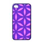 Pattern Texture Backgrounds Purple iPhone 4 Case (Black) Front
