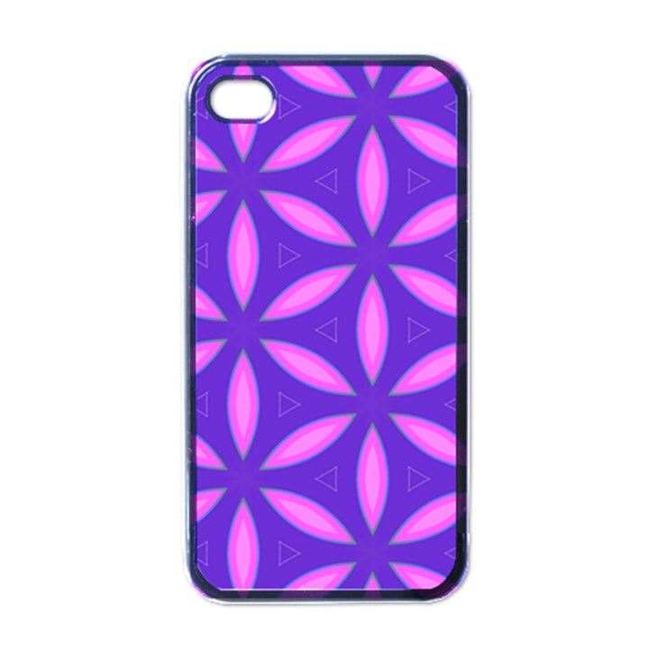 Pattern Texture Backgrounds Purple iPhone 4 Case (Black)