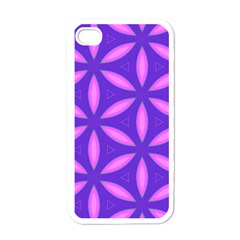 Pattern Texture Backgrounds Purple iPhone 4 Case (White)