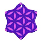 Pattern Texture Backgrounds Purple Ornament (Snowflake) Front
