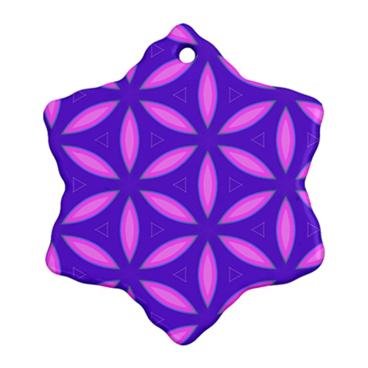 Pattern Texture Backgrounds Purple Ornament (Snowflake)