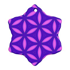 Pattern Texture Backgrounds Purple Snowflake Ornament (Two Sides)