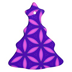 Pattern Texture Backgrounds Purple Christmas Tree Ornament (Two Sides)