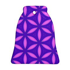Pattern Texture Backgrounds Purple Bell Ornament (Two Sides)