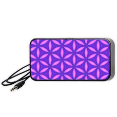 Pattern Texture Backgrounds Purple Portable Speaker by HermanTelo