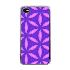 Pattern Texture Backgrounds Purple iPhone 4 Case (Clear)