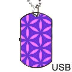 Pattern Texture Backgrounds Purple Dog Tag USB Flash (Two Sides)