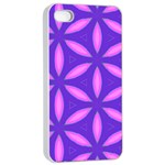 Pattern Texture Backgrounds Purple iPhone 4/4s Seamless Case (White) Front