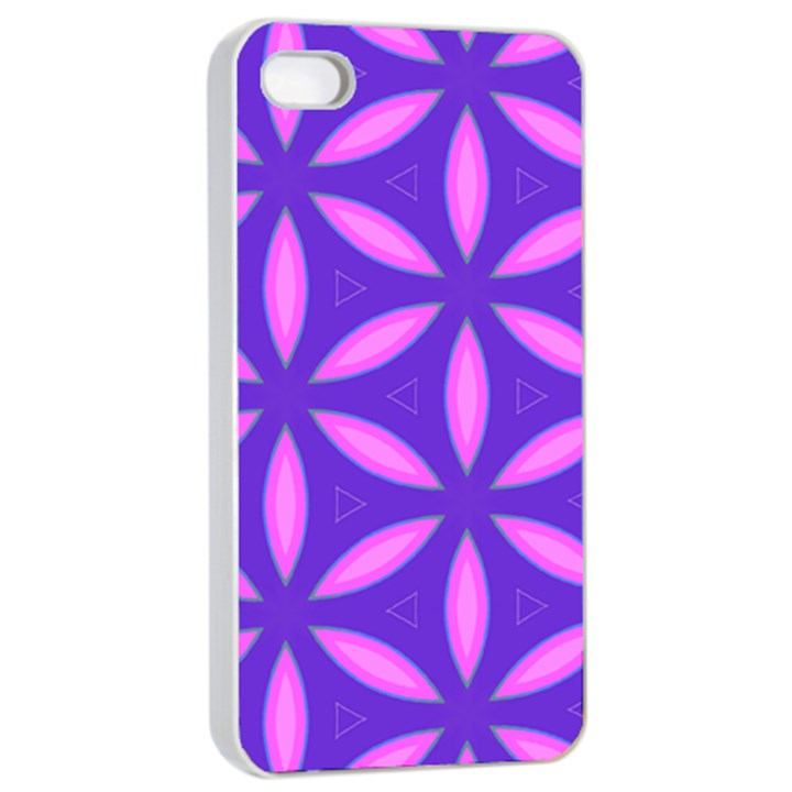 Pattern Texture Backgrounds Purple iPhone 4/4s Seamless Case (White)
