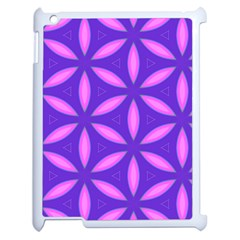 Pattern Texture Backgrounds Purple Apple iPad 2 Case (White)