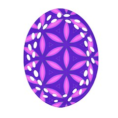 Pattern Texture Backgrounds Purple Oval Filigree Ornament (Two Sides)
