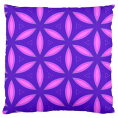 Pattern Texture Backgrounds Purple Large Cushion Case (One Side)