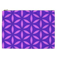 Pattern Texture Backgrounds Purple Cosmetic Bag (XXL)