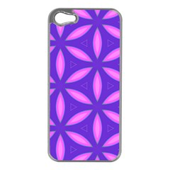 Pattern Texture Backgrounds Purple iPhone 5 Case (Silver)