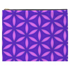 Pattern Texture Backgrounds Purple Cosmetic Bag (xxxl) by HermanTelo