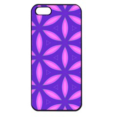 Pattern Texture Backgrounds Purple iPhone 5 Seamless Case (Black)