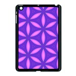 Pattern Texture Backgrounds Purple Apple iPad Mini Case (Black) Front