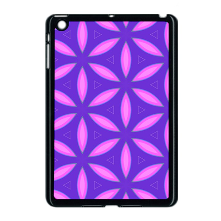 Pattern Texture Backgrounds Purple Apple iPad Mini Case (Black)