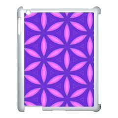 Pattern Texture Backgrounds Purple Apple Ipad 3/4 Case (white)