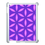 Pattern Texture Backgrounds Purple Apple iPad 3/4 Case (White) Front