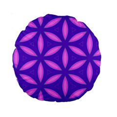 Pattern Texture Backgrounds Purple Standard 15  Premium Round Cushions