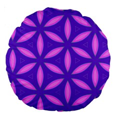 Pattern Texture Backgrounds Purple Large 18  Premium Round Cushions
