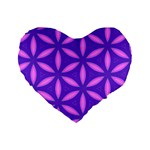 Pattern Texture Backgrounds Purple Standard 16  Premium Heart Shape Cushions Front