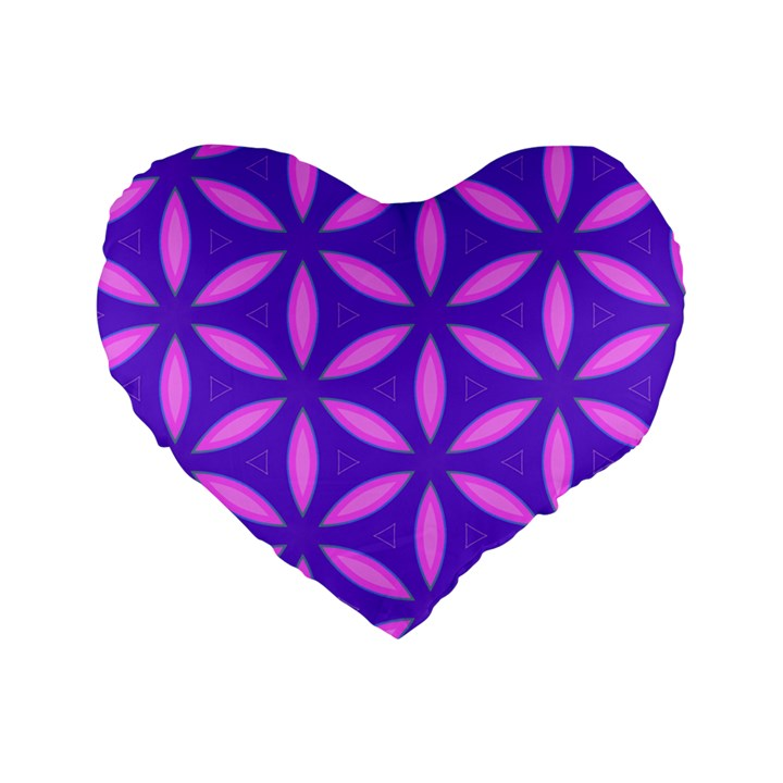 Pattern Texture Backgrounds Purple Standard 16  Premium Heart Shape Cushions