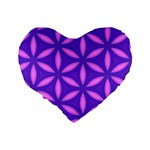 Pattern Texture Backgrounds Purple Standard 16  Premium Heart Shape Cushions Back
