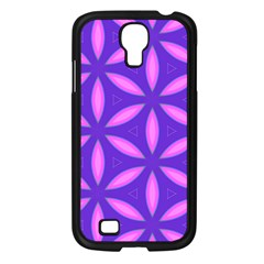 Pattern Texture Backgrounds Purple Samsung Galaxy S4 I9500/ I9505 Case (Black)