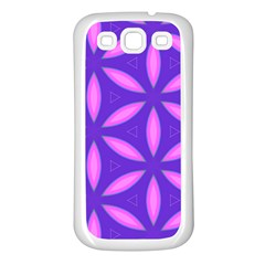 Pattern Texture Backgrounds Purple Samsung Galaxy S3 Back Case (White)