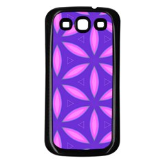 Pattern Texture Backgrounds Purple Samsung Galaxy S3 Back Case (Black)