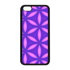 Pattern Texture Backgrounds Purple iPhone 5C Seamless Case (Black)