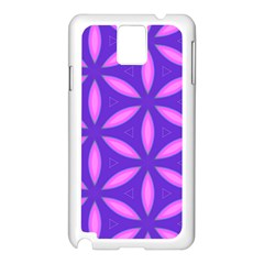 Pattern Texture Backgrounds Purple Samsung Galaxy Note 3 N9005 Case (White)