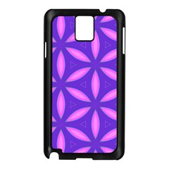Pattern Texture Backgrounds Purple Samsung Galaxy Note 3 N9005 Case (Black)
