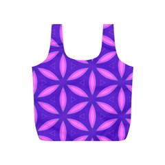 Pattern Texture Backgrounds Purple Full Print Recycle Bag (S)