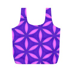 Pattern Texture Backgrounds Purple Full Print Recycle Bag (M)