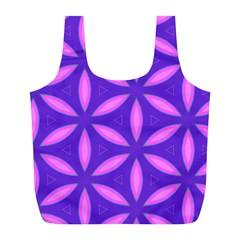 Pattern Texture Backgrounds Purple Full Print Recycle Bag (L)