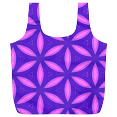 Pattern Texture Backgrounds Purple Full Print Recycle Bag (XL)