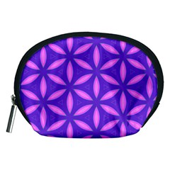 Pattern Texture Backgrounds Purple Accessory Pouch (Medium)